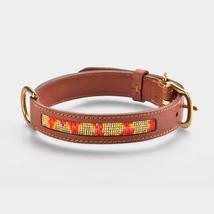 Handmade Leather Dog Collar, Handmade, Inspired in Warhol's Flowers Prin... - $78.26+