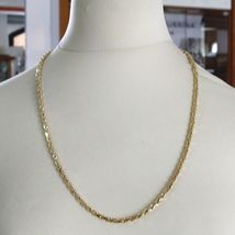 """18K YELLOW GOLD CHAIN NECKLACE 4 MM BIG DIAMOND CUT SQUARE ROPE LINK, 23.6"""" image 5"""