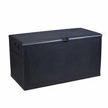 Patio Deck Box Outdoor Storage Plastic Bench Box,120-Gallon - £107.21 GBP
