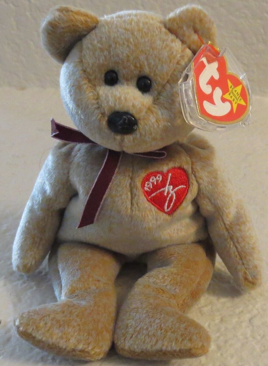 Primary image for Ty Beanie Baby 1999 Signature Bear 5th Generation Hang Tag Gasport Tag Error