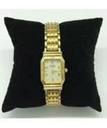 Citizen's Ladies Link Watch Gold Tone Jewelry 5920-549941 New Battery - $49.49
