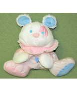 VINTAGE FISHER PRICE PUFFALUMP PINK BLUE PLUSH RATTLE TEDDY PUPPY MOUSE ... - $83.22
