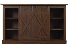 Rustic TV Stand 60 Inch Entertainment Center Sliding Barn Doors Vintage ... - $296.95