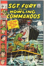 Sgt. Fury and His Howling Commandos Comic Book #87 Marvel Comics 1971 VE... - $12.59