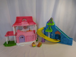 LIttle People Happy Sounds Sweet Home Doll House +  Wheelies Roller coaster - $32.02