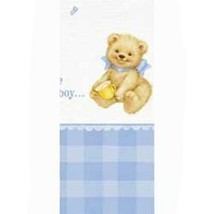 Sweet Bear Blue Baby Shower Plastic Table Cover 1 Per Package Party Supplies - $6.44