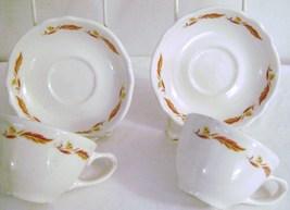 Vintage Homer Laughlin Best  Restaurant China Cups & Saucers - $10.00
