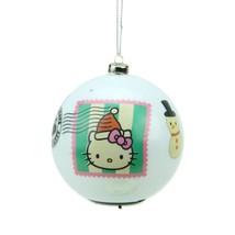 "3.25"" Carlton Cards Heirloom Multi Color LED Hello Kitty Christmas Ball ... - $14.55"