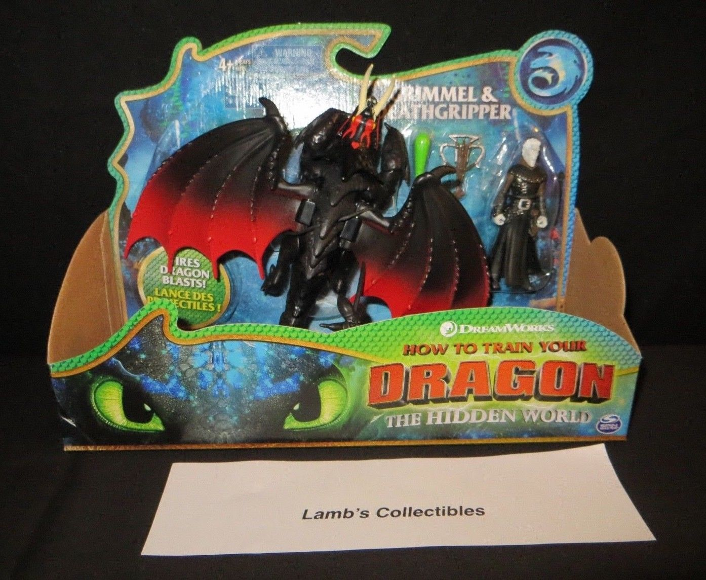 Primary image for How to train your Dragon 3 The Hidden World Grimmel & Deathgrip dragon figures