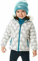 Snozu Toddler Girl's Hypoallergenic Puffy Down Jacket with Beanie White 2T NWT