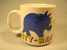 STYRACOSAURUS Coffee Cup 12 oz 1986 ZAK DESIGNS Mug [O2] - $11.52