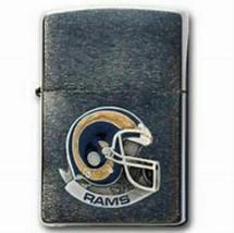 Retired Iconic Los Angeles Rams Logo NFL Enameled Helmet Zippo Lighter - $56.95