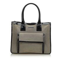 Pre-Loved Gucci Brown Beige Canvas Fabric Handbag Italy - $410.47