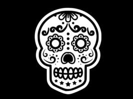 Sugar Skull Day Of Dead Flower Vinyl Decal Car Wall Sticker Choose Size Color - $2.64+