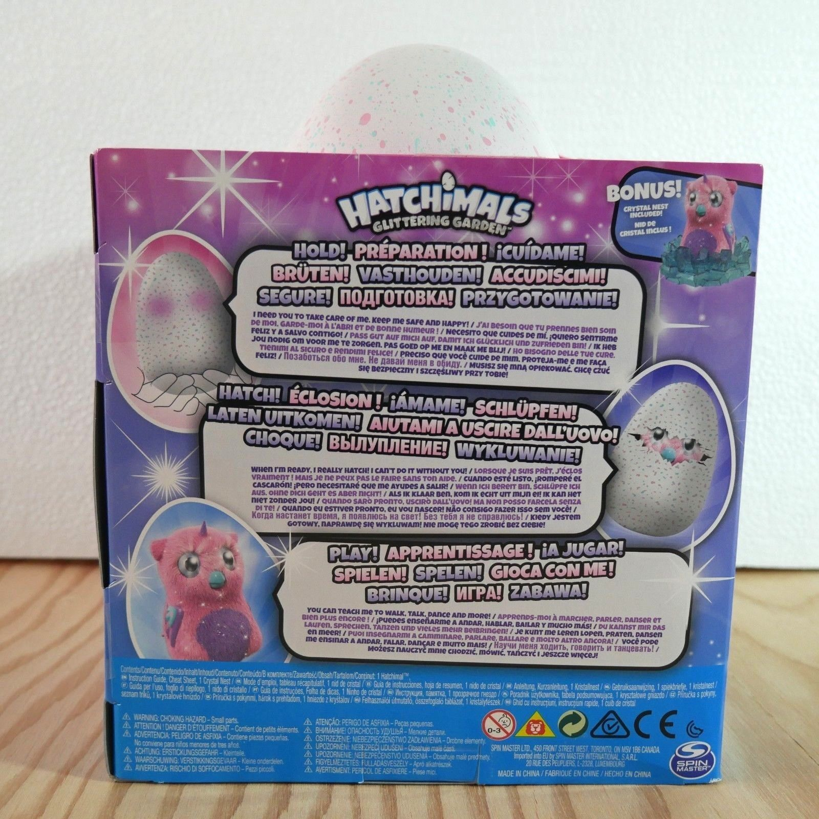 HATCHIMALS OWLICORNS GLITTERING GARDEN OWLICORN BIG EGG BONUS CRISTAL NEST