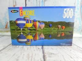 "Vtg Roseart Encore ""Lake Snowmass Colorado"" Hot Air Balloons 500 pc puzz... - $8.90"