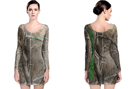 JUST RIDE REALTREE AP CAMO LONG SLEEVE BODYCON DRESS - $24.99+