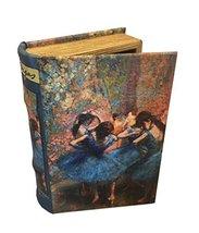 Edgar Degas Dancers in Blue Book Box Jewelry Art Keepsake Blue Ballerinas Decora - $29.69
