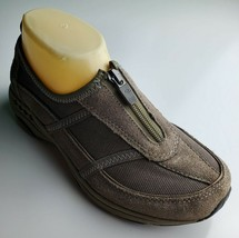 "Easy Spirit ""Sekristalle"" Women's Brown Sneakers With Front Zipper Size 6.5 - €24,25 EUR"