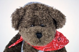 "NTOA Stuffed Teddy Bear Brown Train Engineer Bandana Unipak 12"" Stuffed ... - $19.79"