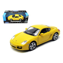 Porsche Cayman S Yellow 1/18 Diecast Car Model by Welly 18008y - $49.34