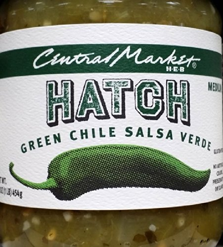 Central Market HEB Salsa 16 Oz (Pack of 2) (Hatch Green Chili Salsa Verde - Medi - $23.73