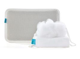 New 3-Piece Bath Spa Gift Set Body Loofah Nylon Hair Wrap Spa Pillow Bat... - $35.85