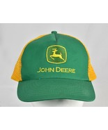 John Deere Trucker Style Hat Yellow Mesh Back Adjustable Strap Baseball Cap - $24.70