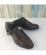Unisa Women's Brown Leather Buckle Slip On Huaraches Sandals Sz 6 - $28.04