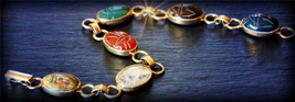 HAUNTED Antiquities Collection Temple of the Annunaki Egyptian Scarab bracelet - $444.44