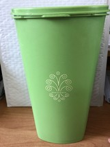 """Vintage Bright Green Tupperware tall Canister With Lid 10 x 6"""" - $22.79"""