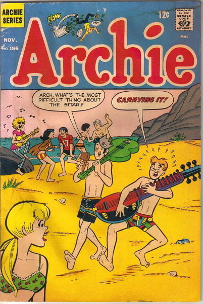 Archie Comics Comic Book #186, Archie 1968 GOOD+