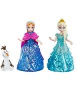 Disney Frozen Glitter Glider Set 3 Pack - Anna, Elsa, Olaf Rolling Figur... - $17.94