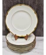 "Set 8 Franconia Krautheim Jewel Dinner Plates SELB BAVARIA 10.75 "" Gold Rim - $173.25"