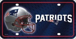 New England Patriots Logo NFL 12x6 Auto Metal License Plate Tag CAR TRUCK - $7.91
