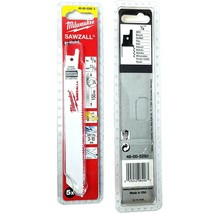 "Milwaukee 48-00-5292 6"" x 10/14 TPI General Purpose Sawzall Blades 5 Pac... - $10.40"