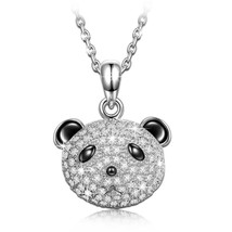 """""""Piteous Panda"""" 925 Sterling Silver Cute Pendant Necklace, gift - $90.28"""