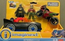 New Imaginext Fisher Batmobile Playset DC Super Friends + Batman + Robin - $28.66
