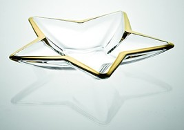 Barski - European - Glass - Star Shaped - Centerpiece - Tray - with Gold... - $89.37