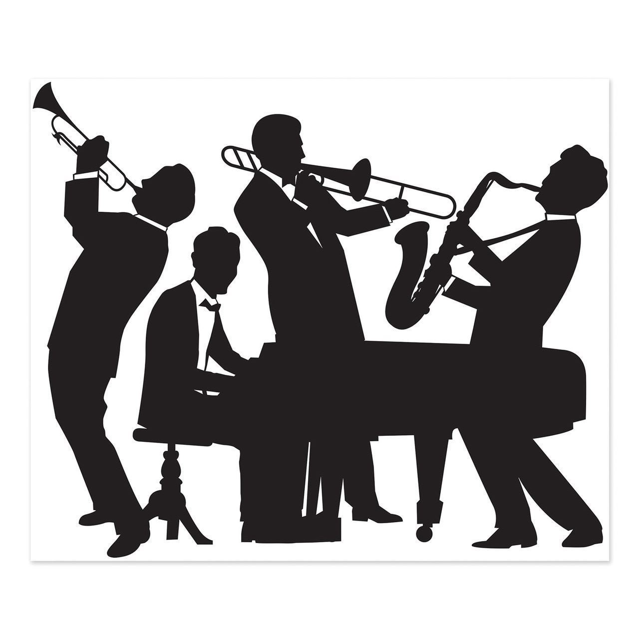Great 20's Jazz Band Insta-Mural Wall Decoration Kit