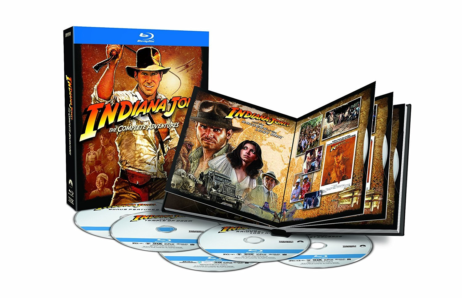 Indiana Jones - The Complete Adventure Collection (Blu-ray, 2012, 5-Disc Set)