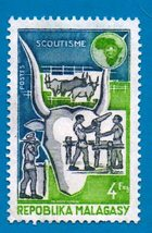 Malagasy Republic Mint Postage Stamp (1974) 4f World Scout Conference Sc... - $2.99
