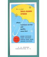 INK BLOTTER 1940s  - BALL BAND Footware Rubber Fabric Woolen Canvas - $4.49