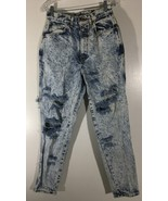 Women's Jeans Size 12 Chic Blue White Destroyed - $13.85
