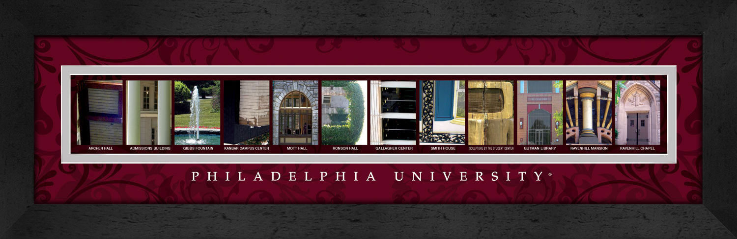 Primary image for Philadelphia University Officially Licensed Framed Campus Letter Art
