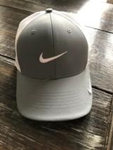 NIKE GOLF LEGACY91 DRI-FIT Trucker HAT CAP OSFA SIZE M/L GRAY WHITE Snap... - $24.75