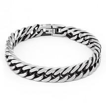 B162 Men's Bracelet Curb Link Chain Wristband Stainless Steel Bracelet F... - $27.66