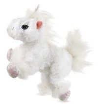 Lil Kinz Unicorn Webkinz HS069 White Iridescent Sparkly Feet Hooves & Ho... - $3.99
