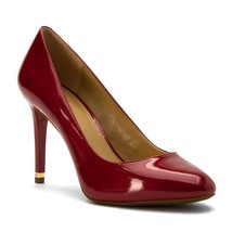 New Michael Kors MK Women's Premium Ashby Flex Patent Pump Shoes Glossy Cherry