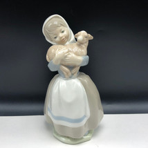 NAO LLADRO SPAIN PORCELAIN figurine statue sculpture daisa 120 girl hold... - $148.50